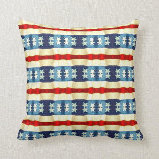 BLUE AND WHITE STARS VINTAGE PATTERN THROW PILLOW