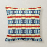 BLUE AND WHITE STARS VINTAGE PATTERN THROW PILLOWS