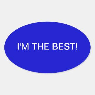 Blue and white sticker