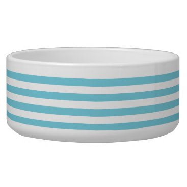 Beach Themed Blue and White Stripe Pattern Bowl