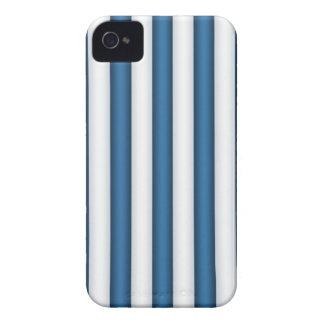 Blue And White Striped Blackberry Case Mate Case