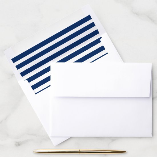 Blue and White Striped Envelope Liner