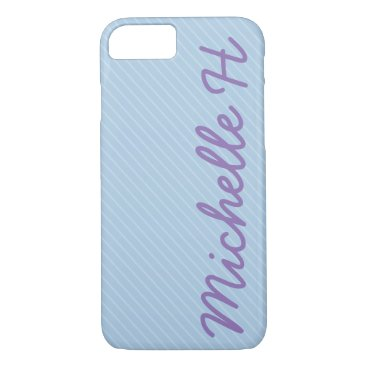 partridgelanestudio Blue and White Striped iPhone 7 Case