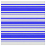 [ Thumbnail: Blue and White Striped/Lined Pattern Fabric ]