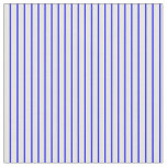 [ Thumbnail: Blue and White Striped Pattern Fabric ]