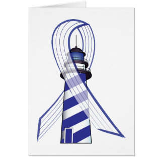Blue and  White Striped Ribbon Lou Gehrig's ALS Card