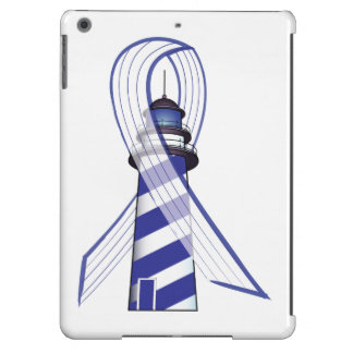 Blue and  White Striped Ribbon Lou Gehrig's ALS iPad Air Case