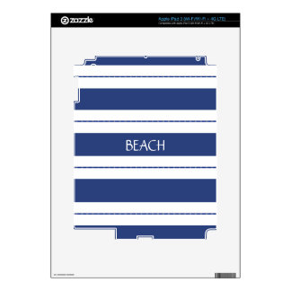 Blue and White Striped Decals For iPad 3