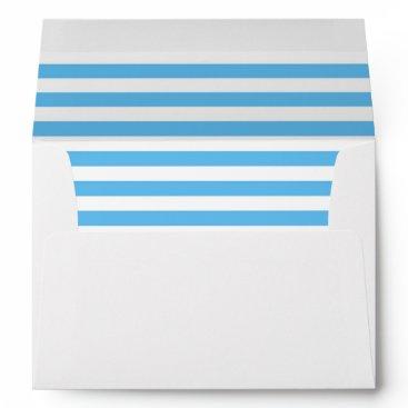 partridgelanestudio Blue and White Striped with Return Address Envelope
