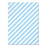 "Blue and White Stripes. 5"" X 7"" Invitation Card"