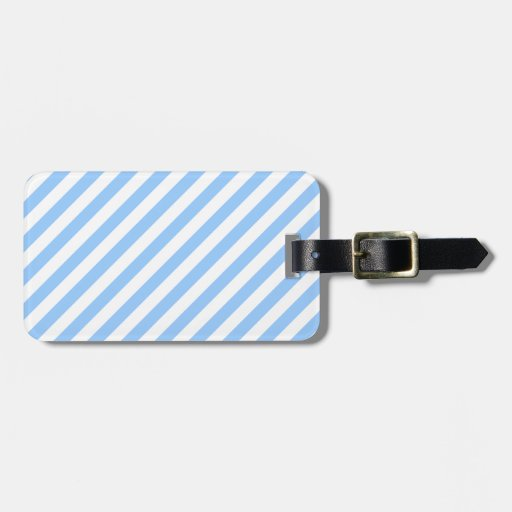 Blue and White Stripes. Bag Tag