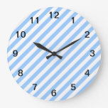 Blue and White Stripes. Clock