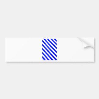 Blue and white stripes design bumper sticker