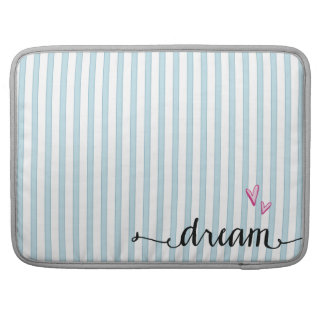 Blue and White Stripes Dream Macbook Sleeve Sleeves For MacBook Pro