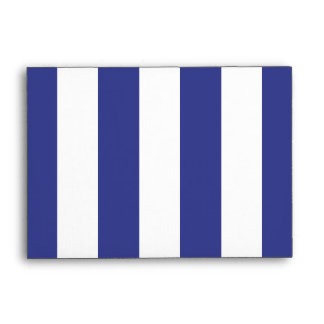 Blue and White Stripes Envelope
