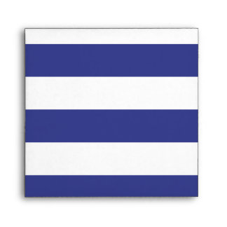 Blue and White Stripes Envelope