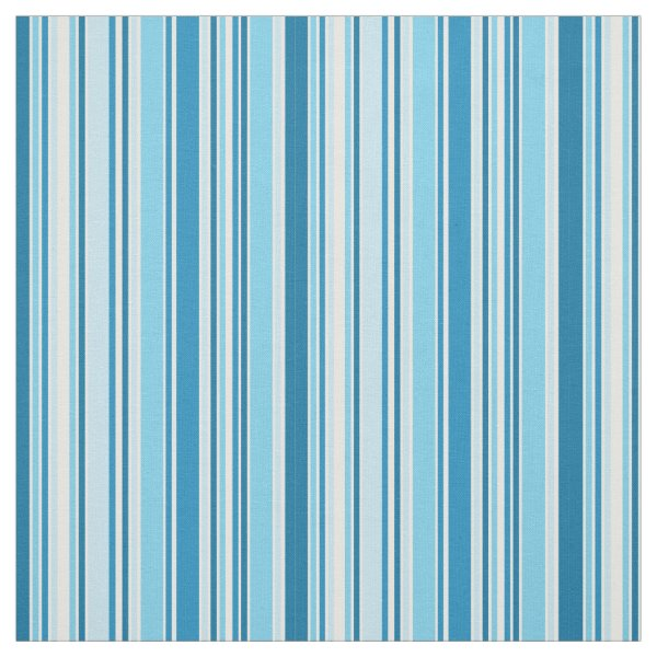Blue and white stripes fabric