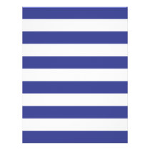 Blue and White Stripes Flyer