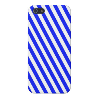 Blue and White Stripes iPhone 5 Cell Phone Case