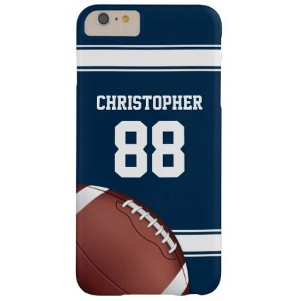 Blue and White Stripes Jersey Football Barely There iPhone 6 Plus Case