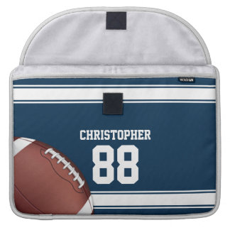 Blue and White Stripes Jersey Football MacBook Pro Sleeve
