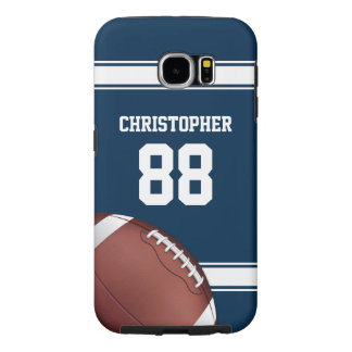 Blue and White Stripes Jersey Football Samsung Galaxy S6 Case
