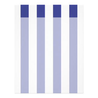 Blue and White Stripes Letterhead
