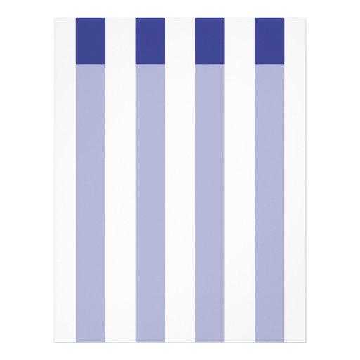Blue and White Stripes Letterhead Design