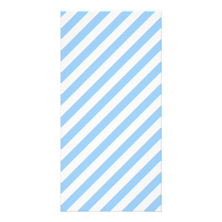 Blue and White Stripes. Personalized Photo Card
