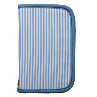 Blue and White Stripes Folio Planners