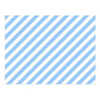 Blue and White Stripes. Postcard