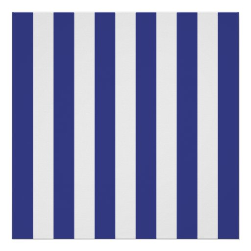 Blue and White Stripes Posters