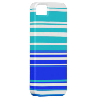 Blue and white stripes seamless painting graphic iPhone SE/5/5s case