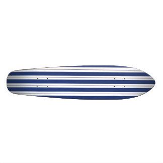 Blue and White Stripes Skate Decks