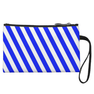 Blue and White Stripes Small Clutch Bag Wristlet