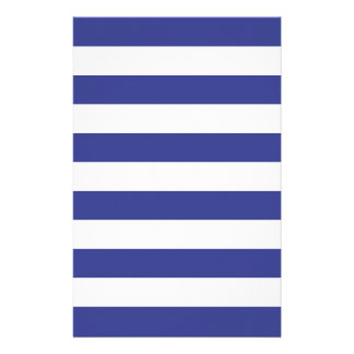 Blue and White Stripes Stationery Paper