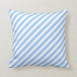 Blue and White Stripes. Throw Pillows