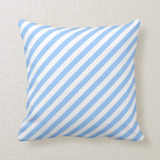 Blue White Throw Pillow : Blue and White Stripes. Throw Pillows Zazzle