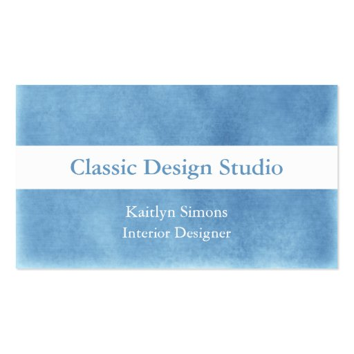 Blue And White Suede Business Cards