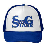 Blue and White Swag Starr Hat