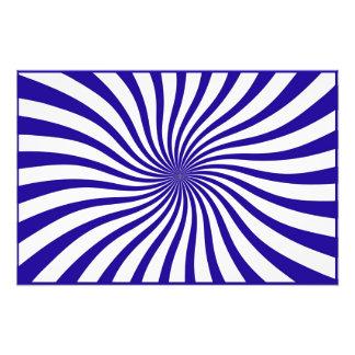 Blue and white swirl photo print