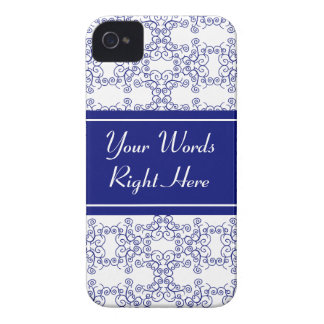 Blue and white swirls iPhone 4 case
