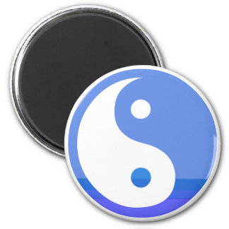 Blue and White Taijitu Yin Yang Symbol Magnet
