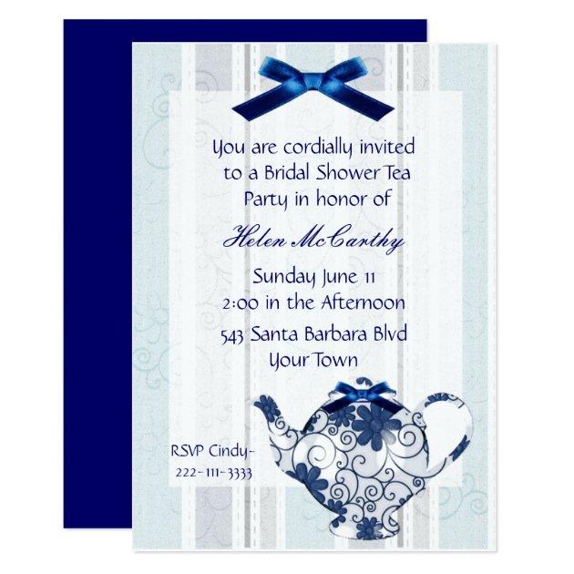 Bridal Shower Tea Party Invitations Announcements Zazzle