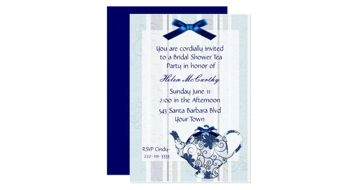 Bridal Shower Tea Party Invitations Announcements – Tea Party Bridal Shower Invitations