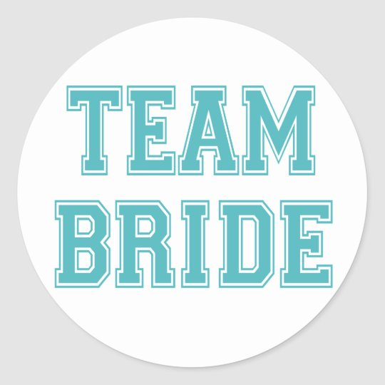 Blue and White Team Bride Stickers