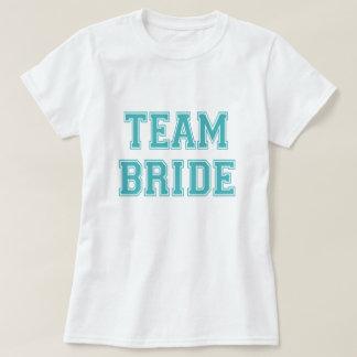 Blue and White Team Bride T-shirt