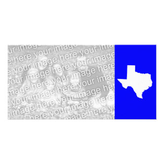 Blue and White Texas Photo Card
