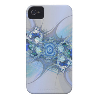 Blue and white thorn fractal iPhone 4 Case-Mate cases