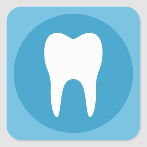 Blue and white tooth logo dentist dental modern square ...